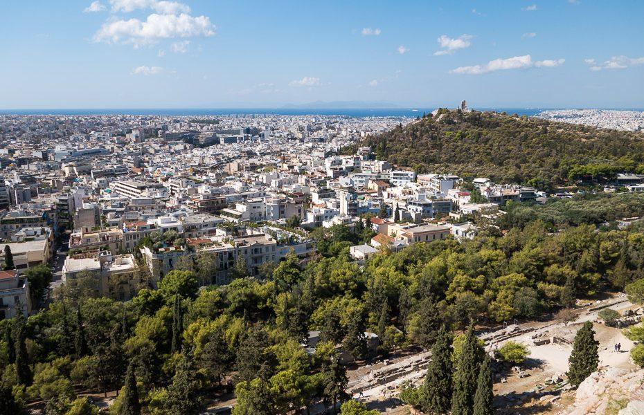 Sskats no Akropoles Grieķijā