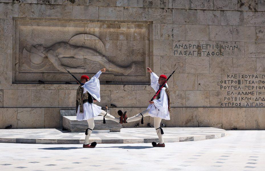 Goda sardze pie parlamenta Grieķijā