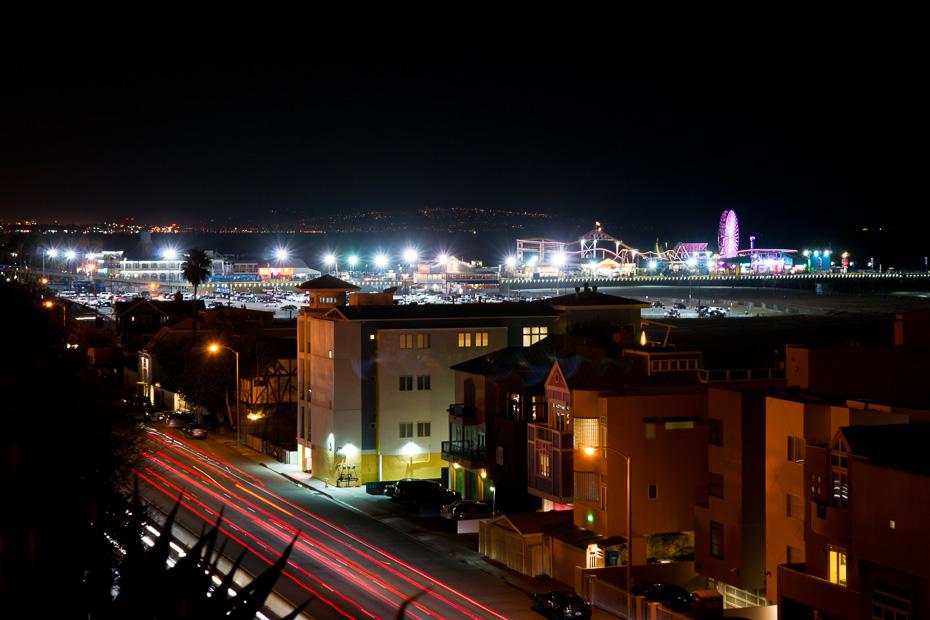 santa monika nakts amerika las vegasa kalifornija rietumu krasts asv auto route 66