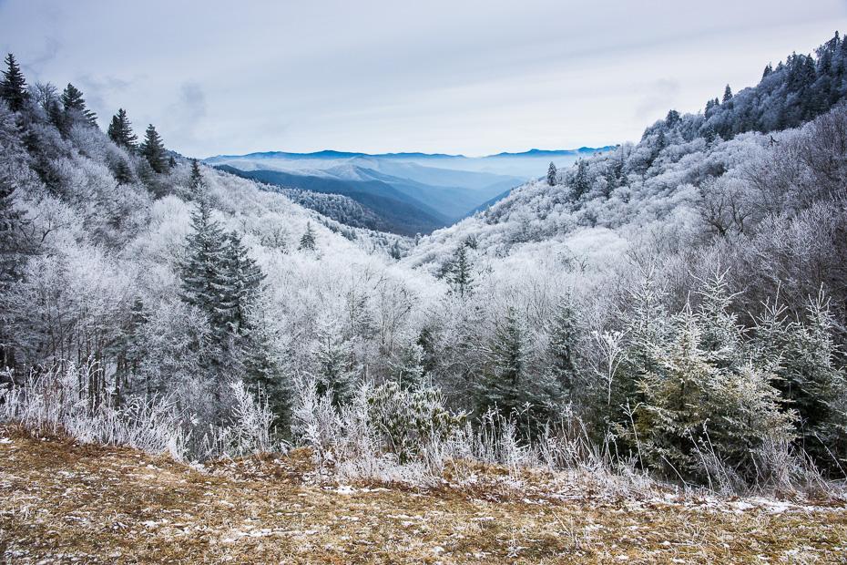 smoky kalni nacionālais parks ziema amerika asv serena sarma putenis salna ziemeļkarolīna tenesī