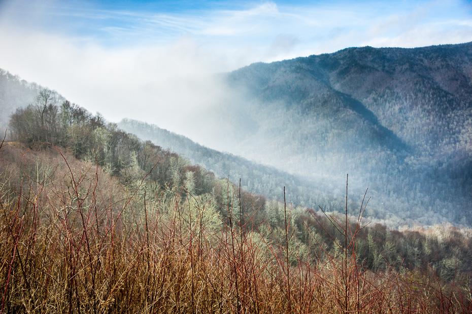 smokey kalni amerika ziemeļkarolīna dienvidkarolīna tenesī auto ziema