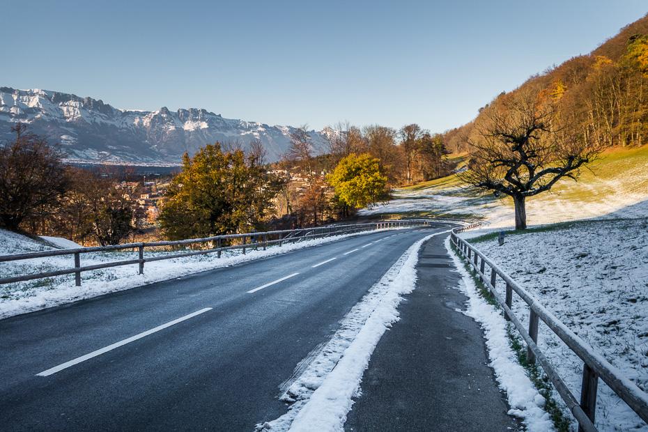 ziema lihtensteina vaduca firsiste kalni alpi