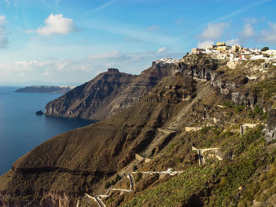 vulkans santorini grieķija erasmus brīvdienas tira oija vidusjūra