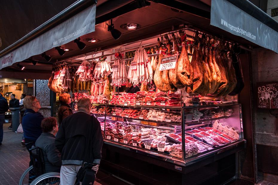 gaļa tirgus barselona iepirkšanās
