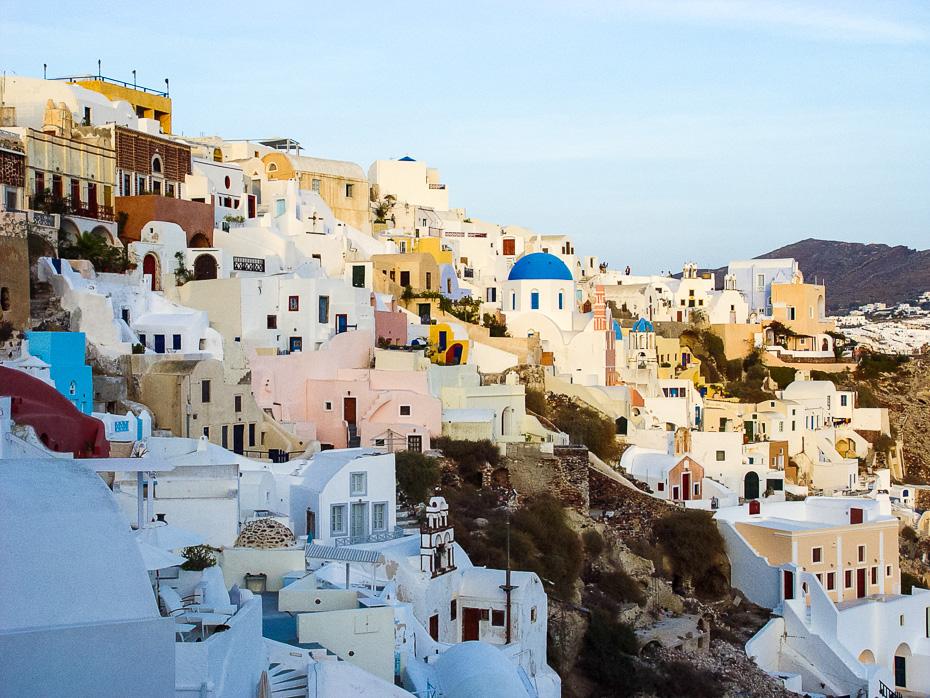 santorini grieķija eiropa salas pludmale brīvdienas