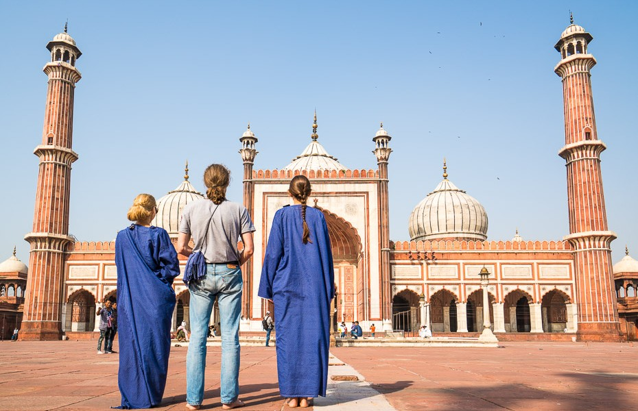 apsegti ceļi indija mošeja deli jama masjid