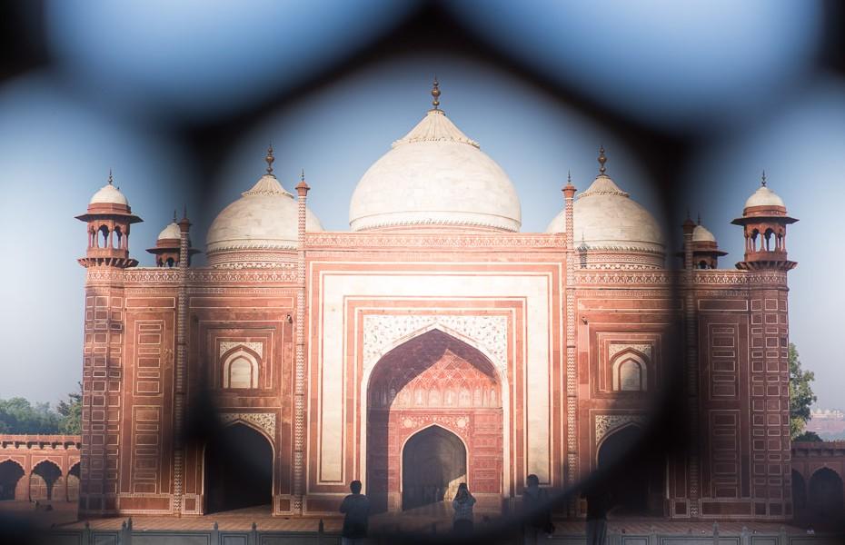 tadžmahāls indija cauri loga mozaīkai
