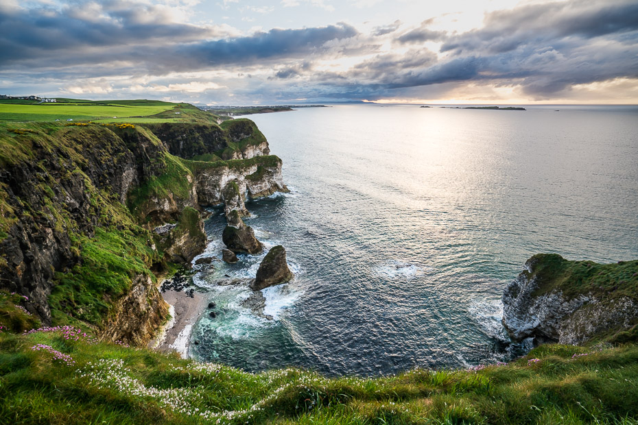 apskates punkti ziemeļīrijas piekrastē