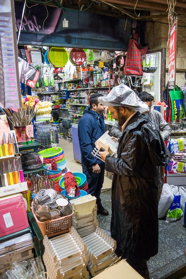 ebreju fedora lietus laikā jeruzaleme tirgus