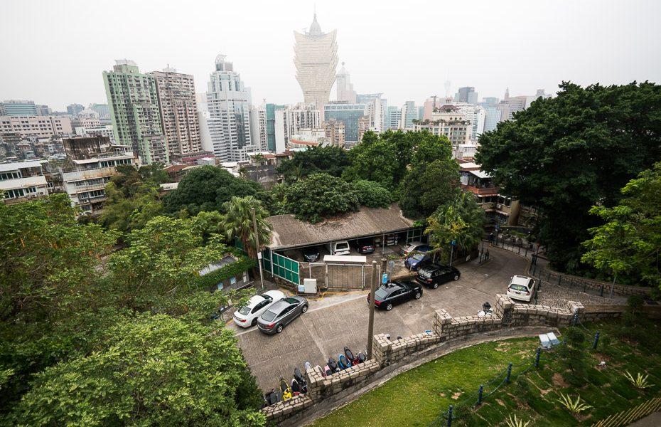 pilsētas skats ar grand lisboa kazino makao