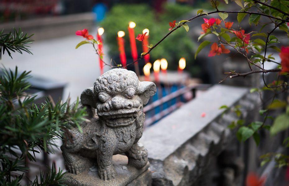 sveces un dievības makao ama taoistu templī