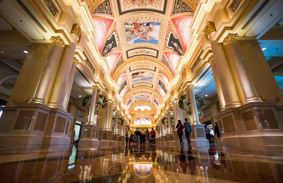 the venetian kazino iekšpusē