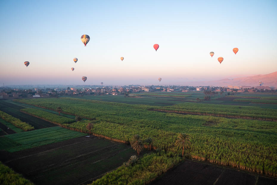 Saullēkta izbrauciens ar gaisa balonu