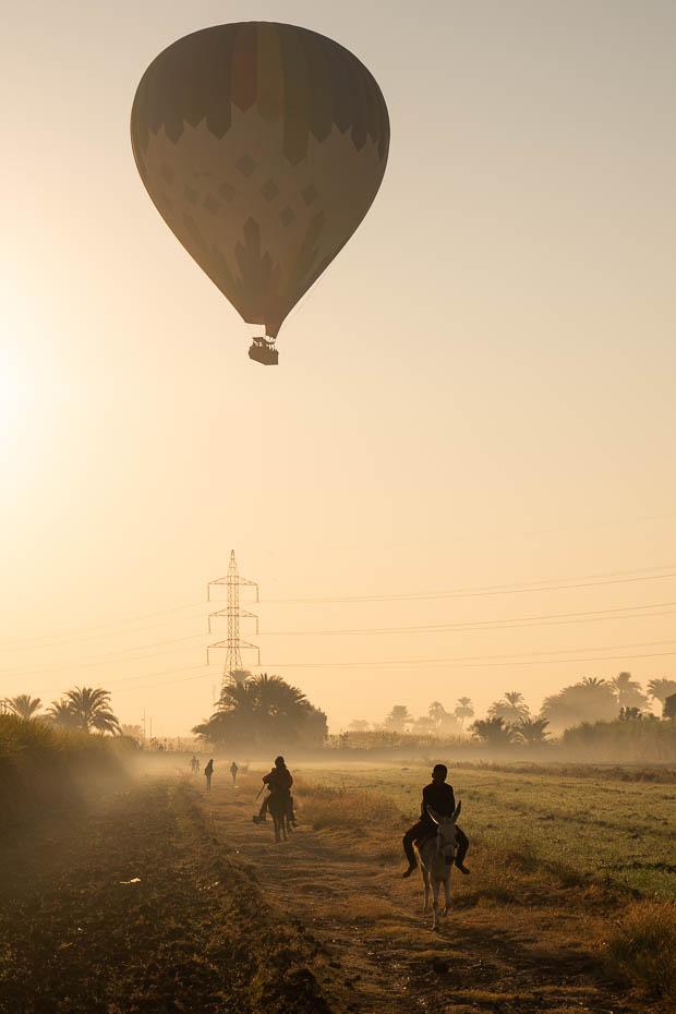 Izbrauciens ar gaisa balonu Luksorā