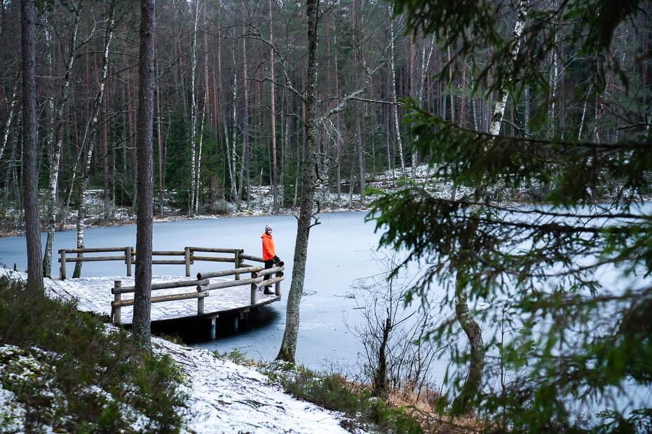 Čertoka ezers ziemā