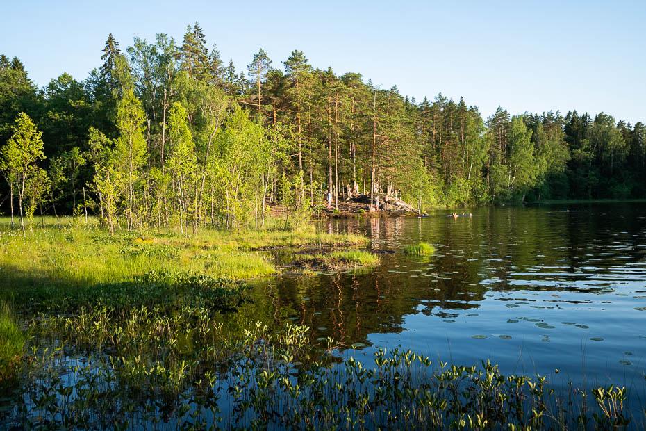 Kvarnträsk jeb Myllyjärvi ezers kalnā Somijā