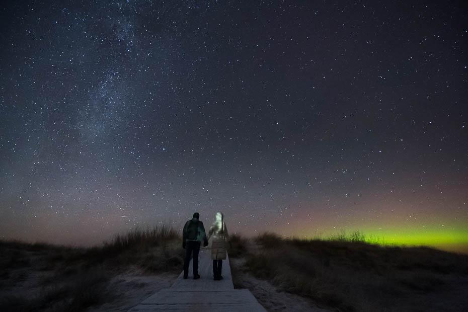Lilastes pludmale ziemā ziemeļblāzma Latvijā