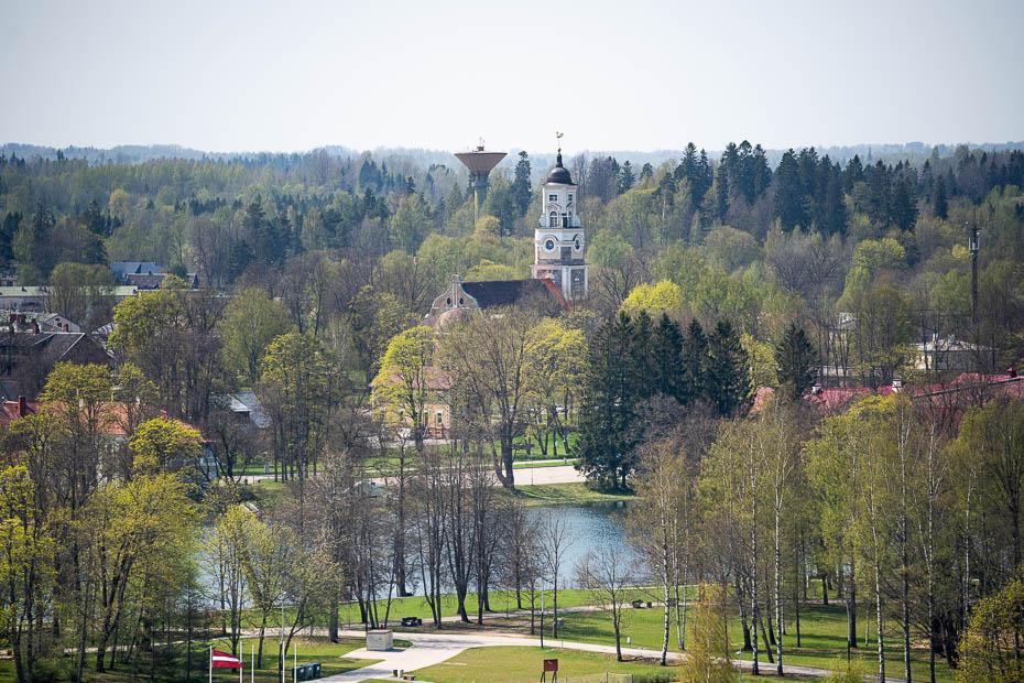 skats to tempļakalna skatu torņa alūksne