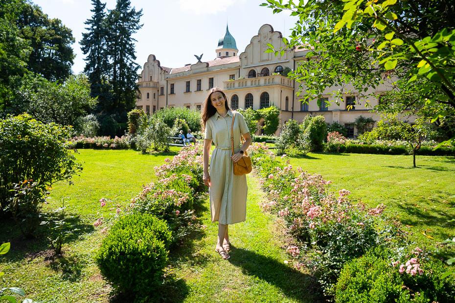 Častolovice pils rožu dārzs Čehija
