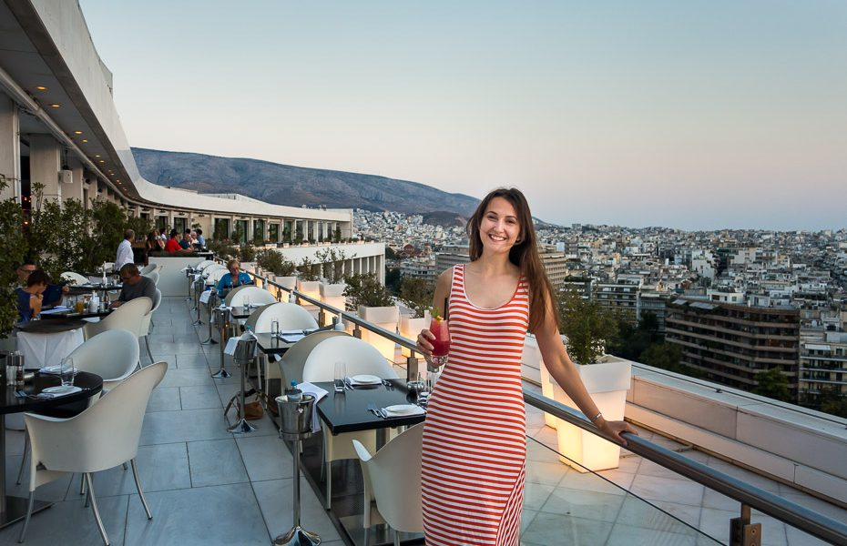 Hilton Athens Galaxy bar vakariņas