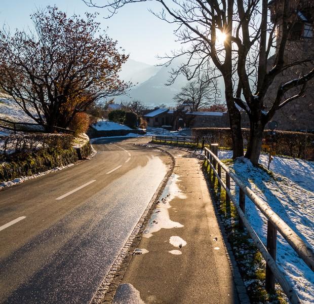 lihtensteina vaduca kalni ziema slepot slepes