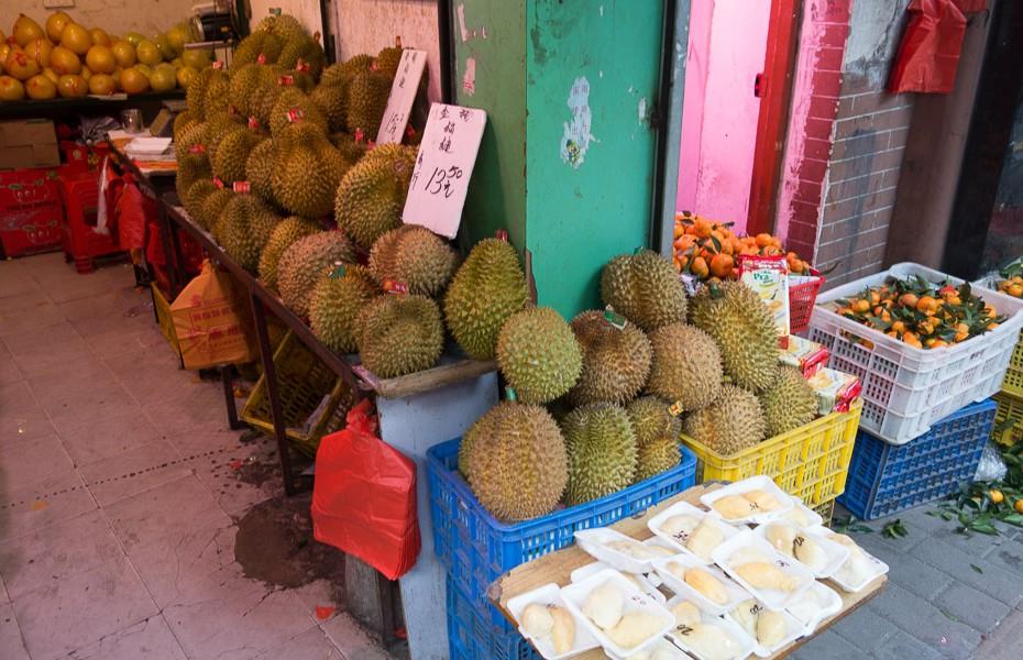 durians ķīniešu tirgus