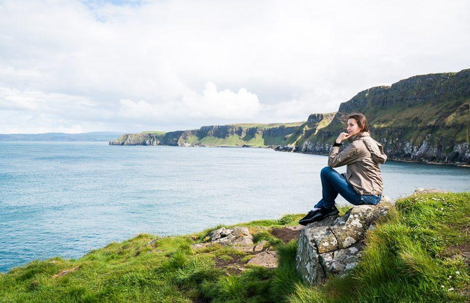Alīna Andrušaite carrick a rede piekaramais virvju tilts ziemeļīrijā