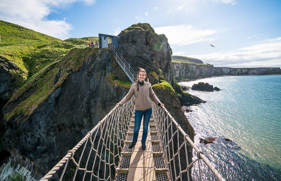 alīna andrušaite carrick a rede virvju tilts ziemeļīrijā