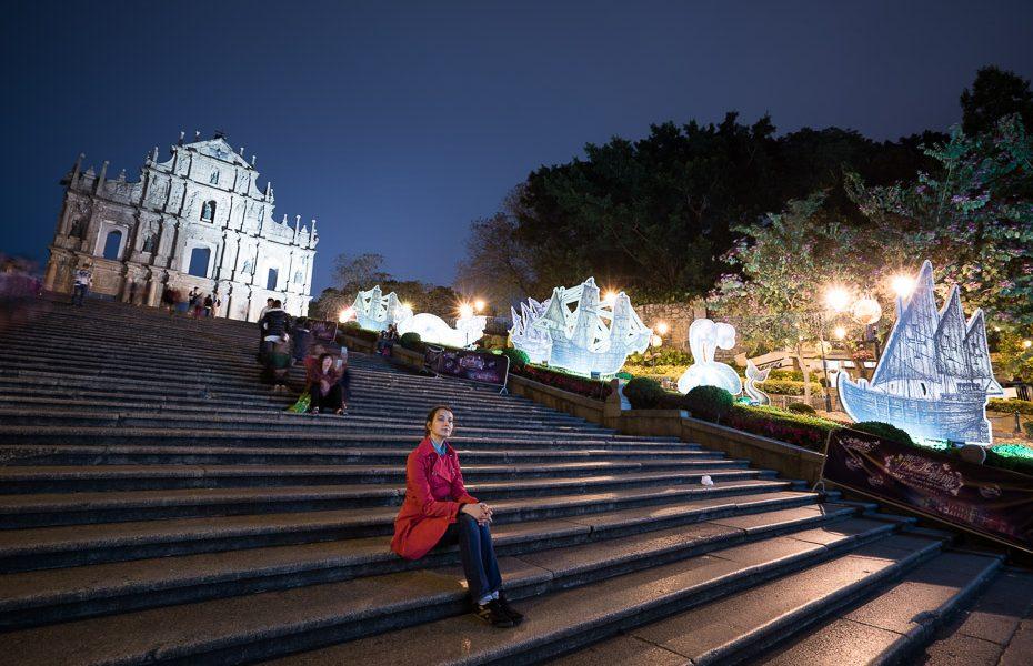 svētā paula drupas gaismas festivālā makao alīna andrušaite
