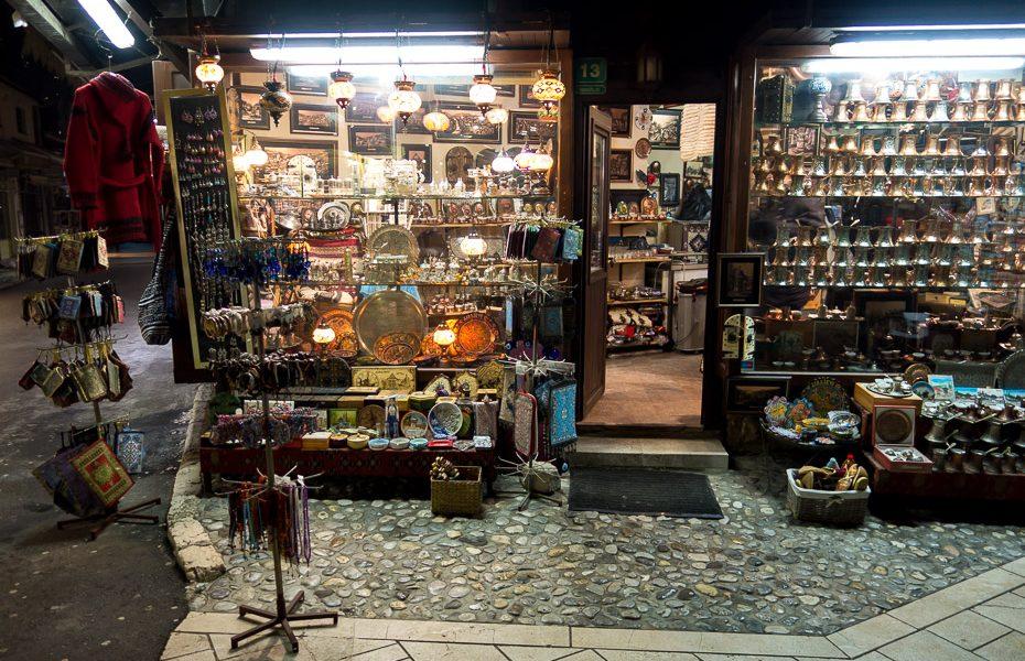 bascarcijas tirgus sarajeva suvenīri bosnija