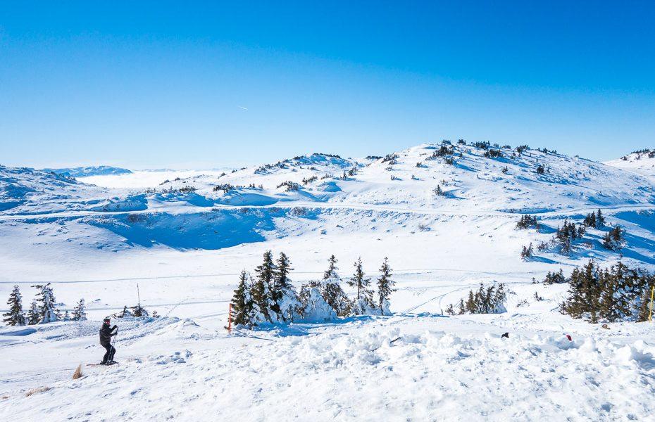 kalnu slēpošana dināras alpos bosnijā un hercegovinā jahorinā